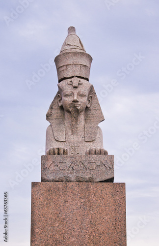 Egyptian spinx on Neva embankment, St.-Petersburg, Russia