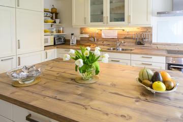 Landhaus-Ambiente in der Küche