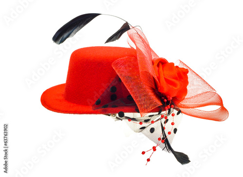 lady's hat isolated on a white background