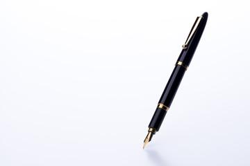 白背景に万年筆