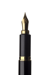 万年筆のペン先のクローズアップ