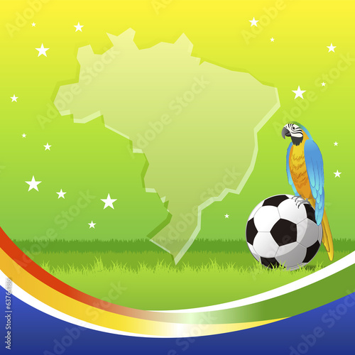 ブラジル サッカー Brazil soccer background