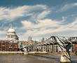 Millenium bridge and St. Paul in London