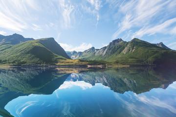 Fototapeta krajobraz w Norwegii