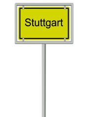 Stuttgart - Ortsschild
