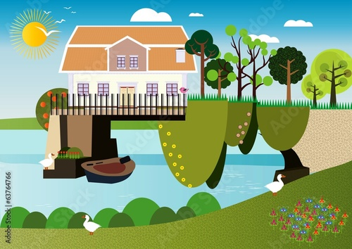 A house over the water