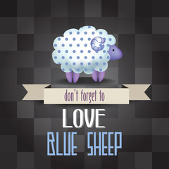 "poster with sheep and message "" don't forget to love"