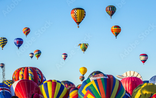 Fotobehang Luchtsport Hot air balloons