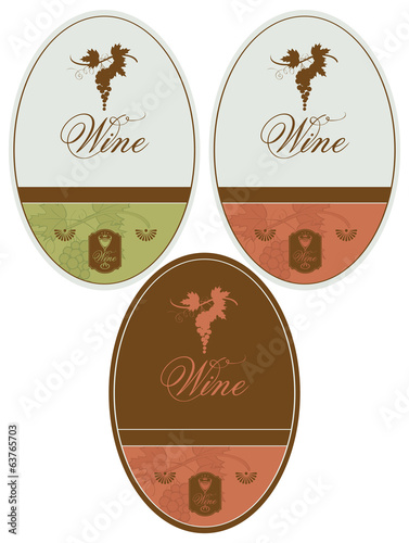 vector labels for wine grapes