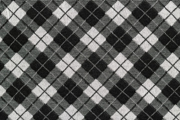 Black and white checkered fabric for background
