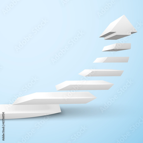 Ascending staircase arrow