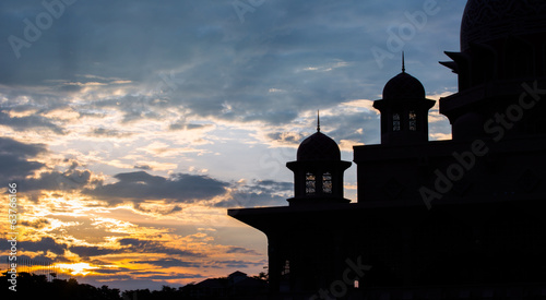 Islamic mosque dome silhouette