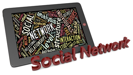 Social network tablet