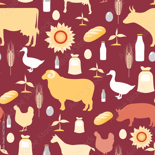 Farming seamless pattern