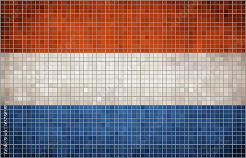 Abstract Mosaic flag of Nederlands