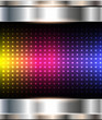 Abstract background, metallic with rainbow dots pattern
