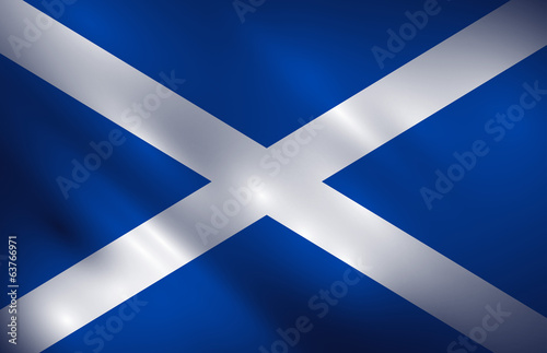 Scotland waving flag illustration vector