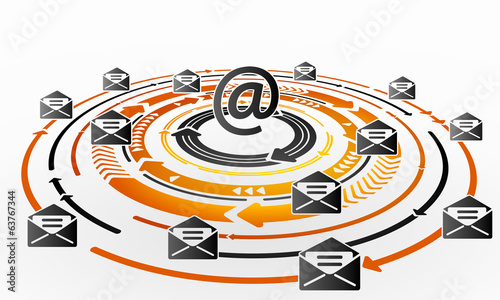 Email exchange abstract concept illustration