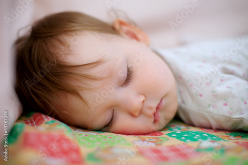 portrait of adorable sleeping baby