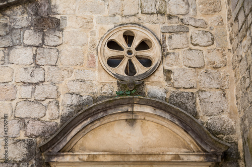Details in Old Church Wall
