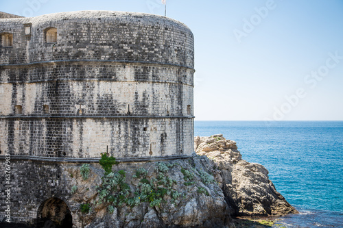 Round Wall of Old City of Dubrovnik