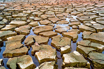 little water left on cracked earth