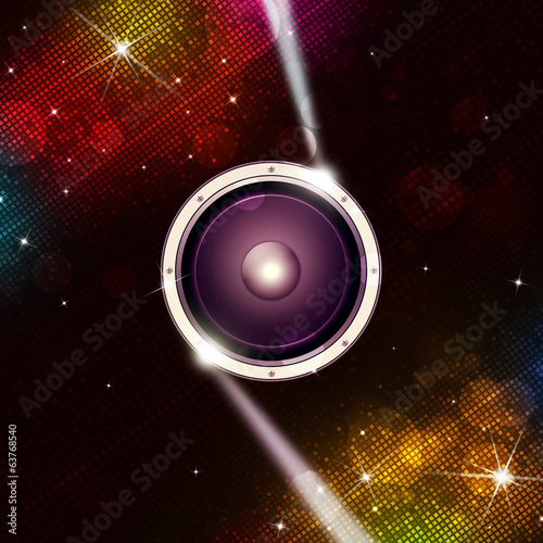 Multicolor Disco Music Background
