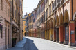Постер, плакат: medieval street in old town of Modena Italy