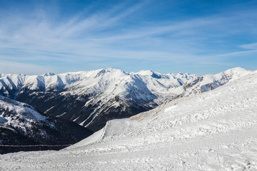 Landscape Tatra Mountains in winter