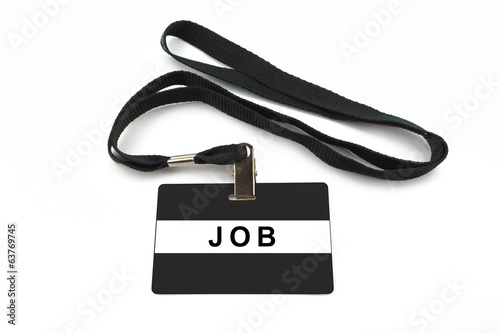 job badge isolated on white background