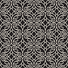 Abstract seamless pattern, swirly lace texture