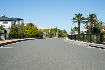 Exclusive residential street.
