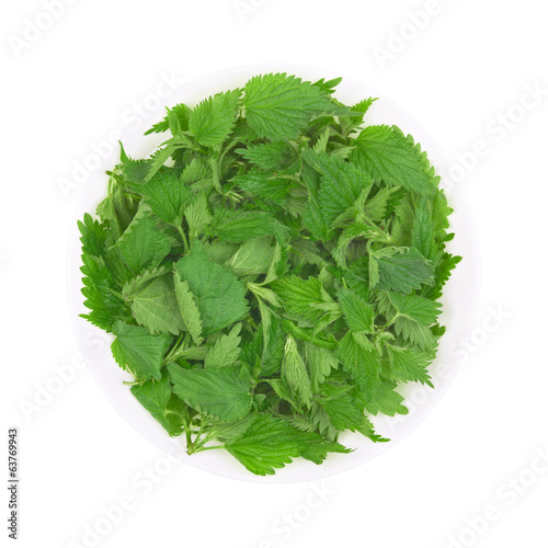 Stinging nettle in bowl