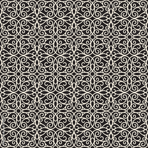 Abstract swirly lace texture, seamless pattern