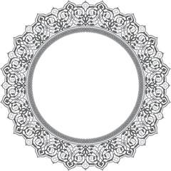 Circular shape with oriental ornament
