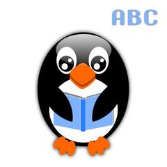 Pinguino con libro