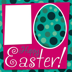 Bright retro Easter card in vector format.