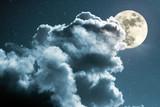 Fototapety Full moon night