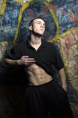 fashion shirtless man
