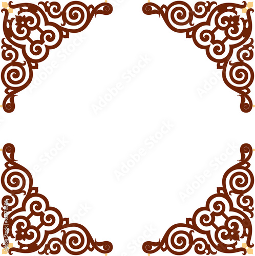 Oriental ornament - square border frame