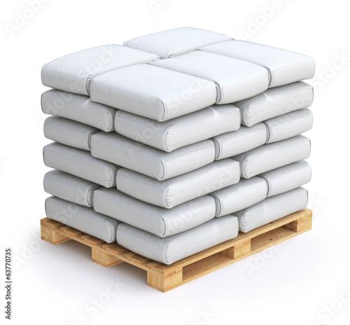 Leinwandbild Motiv White sacks