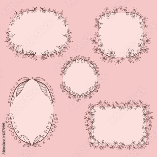 Collection of floral frames.