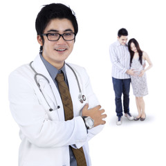 Couple visiting an obstetrician