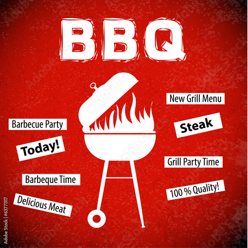 BBQ menu background for restaurant.