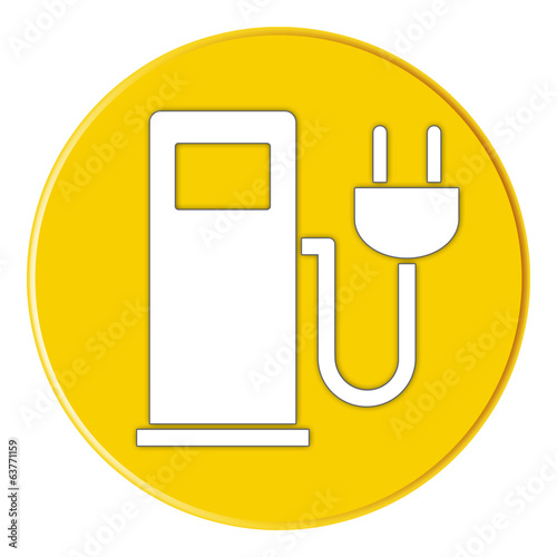Button - Charging Station - Ladestation - yellow - g820