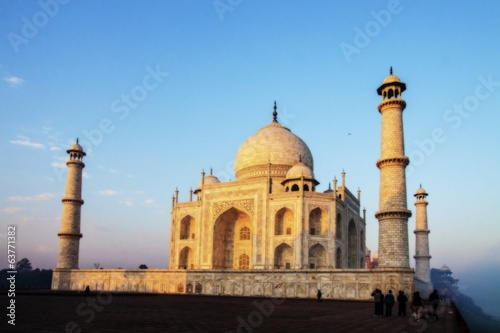 The Taj under Golden sunrays of winter morn