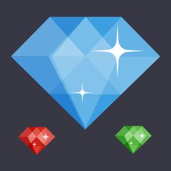 diamond symbol flat illustration