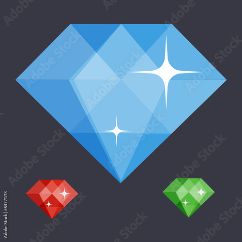 diamond symbol flat illustration