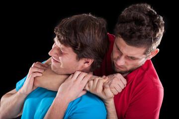 Fighting men friends