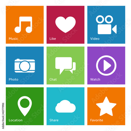 Social media user interface elements